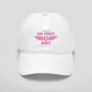 Proud Air Force Aunt W [pink] Cap